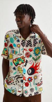 Lazy Oaf Airbrushed Bowling Shirt