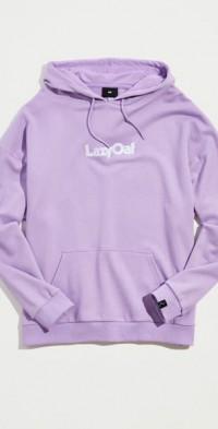 Lazy Oaf Lavender Hoodie Sweatshirt