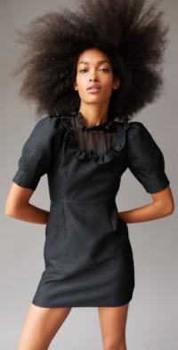 Sister Jane Framed Jacquard Mini Dress